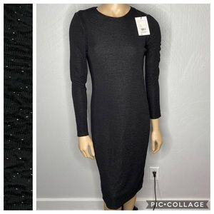 Theory Size 10 Black Miyani Slimming Shinner Dress